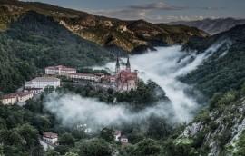 Vistas de la Basílica de Covadonga, Asturias
