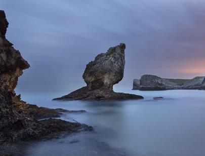Playa de Buelna de noche